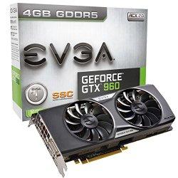 EVGA GeForce GTX 960 4GB SSC ACX 2.0+ 4GB GDDR5 PCI 3.0 Dual-Link Ready Graphics Cards 04G-P4-3967-KR
