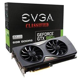 EVGA GeForce GTX 980 Ti Classified ACX 2.0+ 6GB GDDR5 G-SYNC Ready Graphics Cards 06G-P4-4998-KR