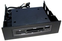 Internal Memory Card Reader for 5.25 CD/DVD Bay With USB Port BLACK