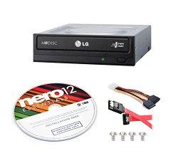 LG Electronics Internal Super Multi Drive Optical Drives GH24NSC0B-KIT + Nero 12 Essentials Burning Software + Sata Cable Kit