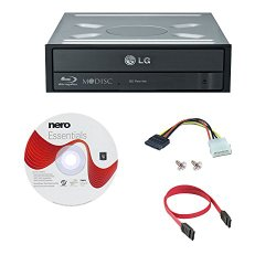LG WH14NS40 14X Blu-ray CD DVD Internal Burner Writer + Nero Software + Cables & Mounting Screws