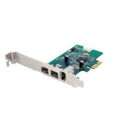 StarTech.com 3 Port 2b 1a 1394 PCI Express FireWire Card Adapter PEX1394B3