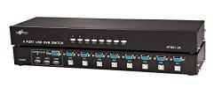 8 Port USB Kvm Switch with 8 Cable Sets – Key Press Switch