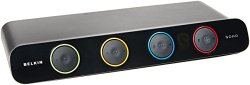 Belkin 4-Port SOHO KVM VGA & PS2 / USB Switch (Belkin SOHO KVM Cables Included), F1DS104J