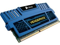 Corsair Vengeance Blue 8 GB (2X4 GB) PC3-12800 1600mHz DDR3 240-Pin SDRAM Dual Channel Memory Kit CMZ8GX3M2A1600C9B