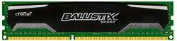 Crucial Ballistix Sport 4GB Single DDR3 1600 MT/s (PC3-12800) CL9 @1.5V UDIMM 240-Pin Memory Module BLS4G3D1609DS1S00