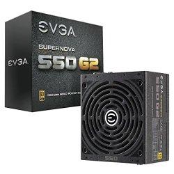 EVGA SuperNOVA 550 G2 80 Plus Gold Rated, Fully Modular ATX 12V/EPS 12V ECO Mode Power Supply 220-G2-0550-Y1