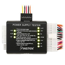 Insten® 20 / 24-pin Power Supply Tester for ATX / SATA / HDD, Black
