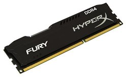 Kingston HyperX FURY Black 16GB Kit (2x8GB) 2133MHz DDR4 Non-ECC CL14 DIMM Desktop Memory (HX421C14FBK2/16)