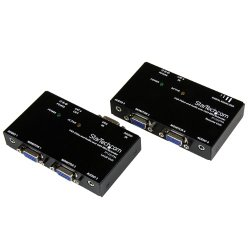 StarTech.com VGA Video Extender over Cat 5 with Audio – Up to 500ft (150m) – VGA over Cat5 Extender – 1 Local and 1 Remote