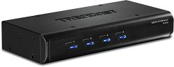 TRENDnet 4-Port USB/PS2 KVM Switch and Cable Kit with Audio, TK-423K