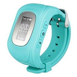 ANDROSET Kids GPS Tracker SIM Card Operated Watch for Children-2 Way Talk (BLUE/ORANGE)
