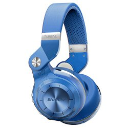 Bluedio T2s Bluetooth Wireless Stereo Headphones with Microphone, 57mm Drivers, 195° Rotary Folding , Hurricane Series, Blue
