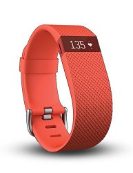 Fitbit Charge HR Wireless Activity Wristband, Tangerine, Large