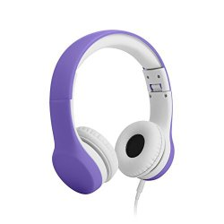 LilGadgets Connect+ Volume Limited Wired Headphones for Children (Purple)