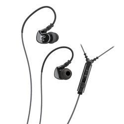 MEE audio Sport-Fi M6P Memory Wire In-Ear Headphones with Microphone, Remote