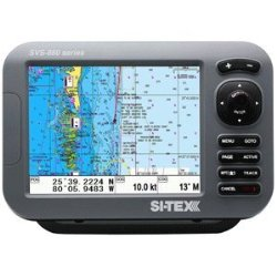 SI-TEX SVS-880CE 8″ Chartplotter w/External GPS Antenna & Navionics Card