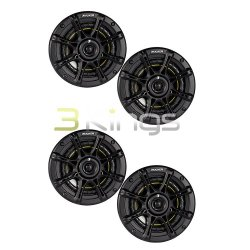 4) NEW KICKER DS65 6.5″ 200 Watt 4-Ohm 2-Way DS Series Car Audio Speakers 11DS65