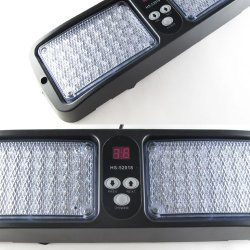 Aurnoc New Commercial Truck Boat Car 86-LED Strobe Lights Car Flash Emergency Waring Light 12 Flash Modes Available in Blue / Amber / White / Red / Red& Blue (White)