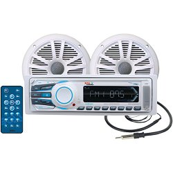 BOSS Audio MCK1306W.6 Combo Kit Includes MR1306UA AM/FM MECHLESS Receiver, One Pair of 6.5″ MR6W