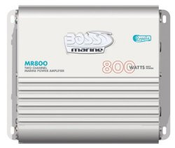 BOSS Audio MR800  800-watts Full Range Class A/B 2 Channel 2-8 Ohm Stable Amplifier with Remote Subwoofer Level Control