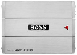 Boss Audio Systems CH4500 2000 Watt 4 Channel Bridgeable Amplifier with Remote Subwoofer Level Control