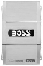 Boss Audio Systems CH802 2 Channel, 1600 Watt, Bridgeable Amplifier with Remote Subwoofer Level Control