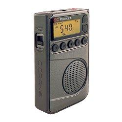 C Crane CC Pocket AM FM and NOAA Weather Radio with Clock and Sleep Timer