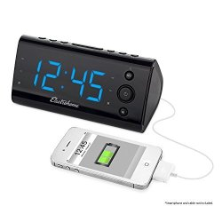 Electrohome Alarm Clock Radio with USB Charging for Smartphones & Tablets (EAAC470)