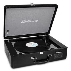 Electrohome Archer Vinyl Record Player Classic Turntable Stereo System with Built-in Speakers (EANOS300)