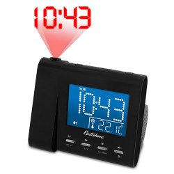 Electrohome Projection Alarm Clock with AM/FM Radio (EAAC601)