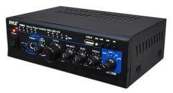 Pyle Home PTAU45 Mini 2×120 Watt MAX Stereo Power Amplifier with USB/CD/AUX Inputs