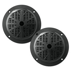 PYLE PLMR51B 100 Watts 5.25-Inch 2 Way Black Marine Speakers