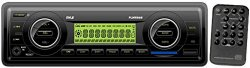 Pyle PLMR86B Stereo Radio Headunit Receiver, Aux (3.5mm) MP3 Input, USB Flash & SD Card Readers, Remote Control, Single DIN (Black)