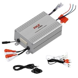 Pyle PLMRMP4A 4 Channel Waterproof MP3/iPod Marine Power Amplifier