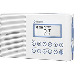 Sangean H202 AM/FM/Weather, Digital tuned Waterproof/Shower Radio with Bluetooth