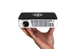 AAXA P300 Pico/Micro LED Projector with 60 Minute Battery Life, WXGA 1280×800 Resolution, 400 Lumens, HDMI, Mini-VGA, 15,000 Hour LED Life, Media Player