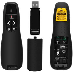 BEBONCOOL(TM) 2.4GHz Wireless USB PowerPoint PPT Presenter R400 [LIFETIME WARRANTY]