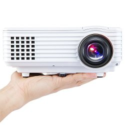 DBPOWER Portable Multimedia Mini LED Projector with USB VGA HDMI AV for Party,Home Entertainment,20000 Hours Led life with Mini Tripod