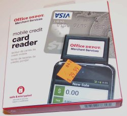 Office Depot Mobile Cell Smart Phone Credit Card Reader