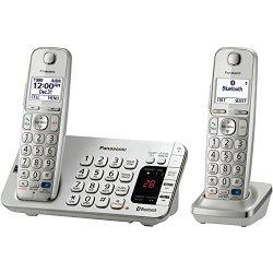Panasonic KX-TGE272S Link2Cell Bluetooth Enabled Phone with Answering Machine & 2 Cordless Handsets