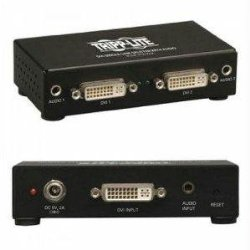 Tripp Lite 2-Port DVI Splitter with Audio and Signal Booster, Single Link 1920×1200 at 60Hz / 1080p (DVI F/2xF)(B116-002A)