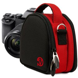 VanGoddy Compact Mini Laurel RED Camera Pouch Cover Bag fits Sony RX100 IV 4 / Cyber-shot DSC-H90 DSCW650 DSCW620 RX100 TF1
