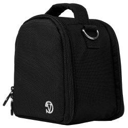 VanGoddy Laurel JET BLACK Compact Camera Pouch Cover Bag fits Sony Alpha RX10 II, A7R 2, A7, A7 II, A7R, A7S, A77, A77 2, A65, A58, Cyber-shot HX300 HX200V