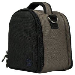 VanGoddy Laurel STEEL GREY Compact Camera Pouch Cover Bag fits Sony Alpha RX10 II, A7R 2, A7, A7 II, A7R, A7S, A77, A77 2, A65, A58, Cyber-shot HX300 HX200V