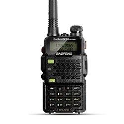2015 Version Baofeng Walkie Talkie UV-5R5 5W Dual-Band Two-Way Radio Transceiver – Black