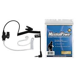 MaximalPower RHF 617-1N 3.5mm RECEIVER/LISTEN ONLY Surveillance Headset