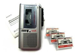 Newly Reconditioned Sony M-570V Handheld Microcassette Voice Recorder includes 3 Tapes & Batteries