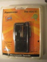 Panasonic Microcassette Recorder RN-404 VAS Voice Activated Voice Recorder
