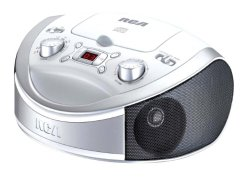 RCA RCD331WH Portable CD Player with AM/FM Radio – White